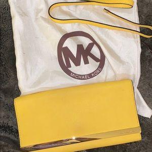 Michael Kors yellow clutch